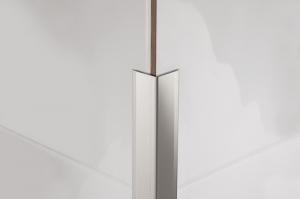Наружный уголок для стен из стали, края завальцованы